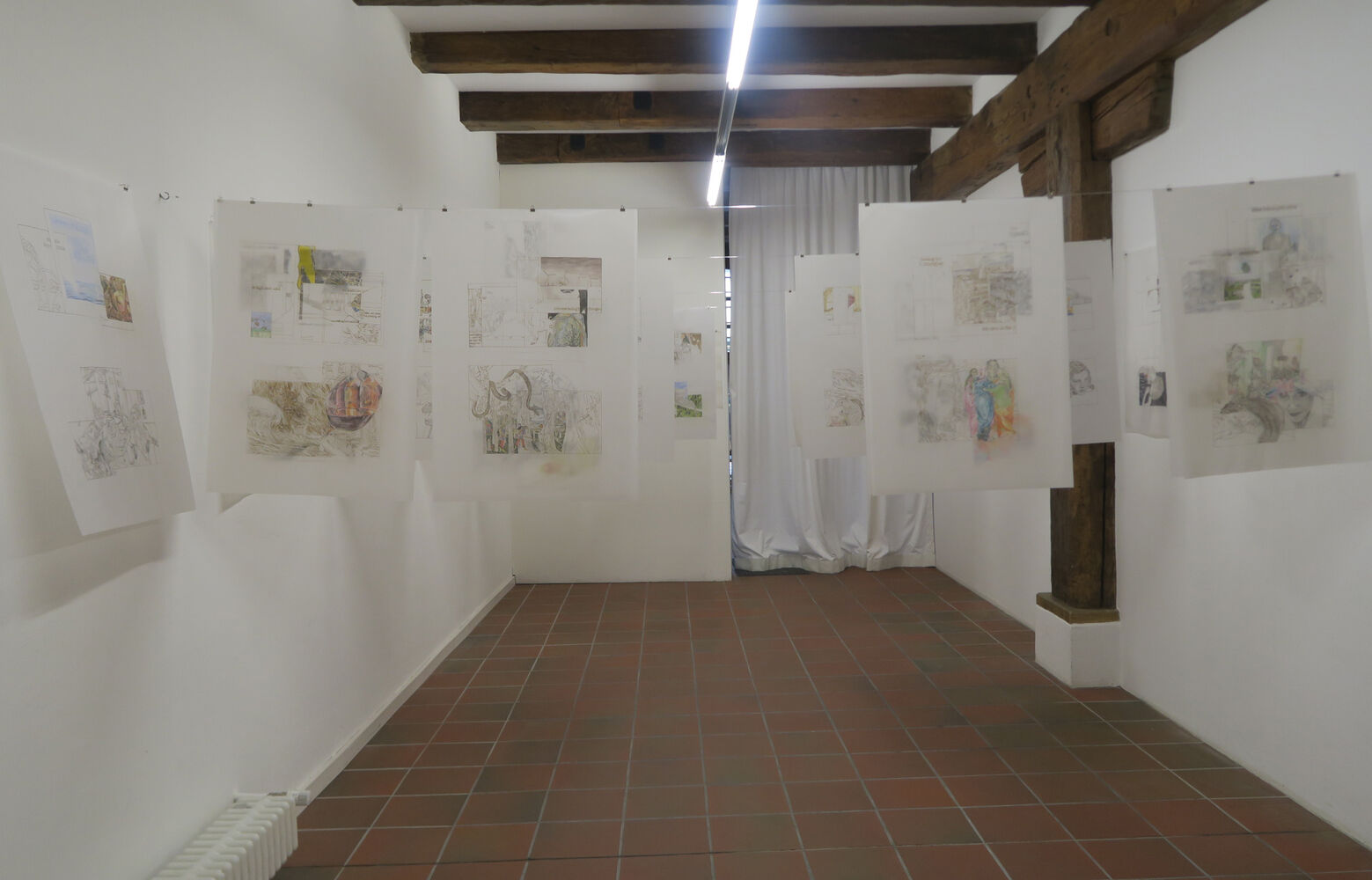 """Exhibition view Kathrina Rudolph """"Both Sides"""", 34,6 x 24,4 inch"""